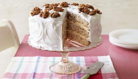 Mary Berry's Frosted Walnut Cake, the first technical challenge of Aug 2015