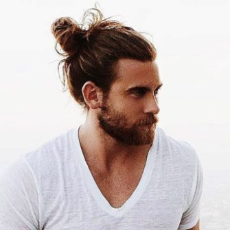 I do not know if this man is a baker - or even if he eats bread. But I knew I needed a man bun picture and his man bun was - at least - tidy. The same cannot be said of the many, many others.